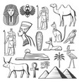 ancient egyptian pharaoh mummy pyramids sphinx vector image vector image