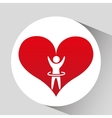 athlete silhouette heart beat design graphic vector image vector image