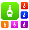 big bottle set color collection vector image vector image