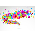 Bright colorful cube 3d swoosh background vector image vector image