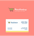 cart logo design with business card template vector image vector image