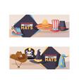 cartoon hat pattern comic cap for carnival vector image vector image