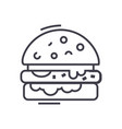 cheese burger line icon sign vector image vector image