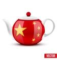 Chinese ceramic teapot vector image