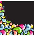 dark abstract bright splash vector image vector image