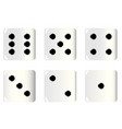 dice faces vector image vector image