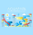 different colored bright waterslides and garrets vector image
