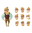 Emotions Man Icon Set vector image vector image