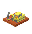 excavator machine dig ground isometric vector image
