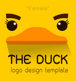 female duck flat logo vector image