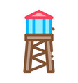 fire tower with water icon outline vector image vector image