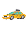 flat high quality city service car taxi toy taxi vector image vector image