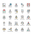 flat icons of business management vector image vector image