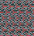 geometric ornament based on a hexagonal grid vector image vector image
