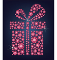 Gift present made up a lot of ruby diamonds vector image vector image