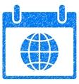Globe Calendar Day Grainy Texture Icon vector image vector image