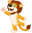 Happy cartoon lion posing vector image vector image