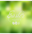 happy easter card with nature background vector image