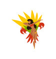 happy girl dancing samba beautiful brazilian vector image