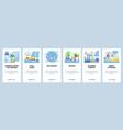 hygiene regime website and mobile app onboarding vector image vector image