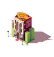isometric casino building vector image