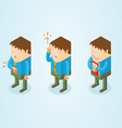 Isometric white collar worker vector image