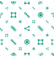 link icons pattern seamless white background vector image vector image