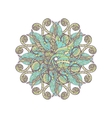 Mandala Ethnic lace round ornamental pattern vector image vector image