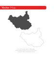 map south sudan isolated vector image