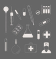 medical character set lat design style medical vector image vector image