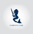 mermaid company logo vector image vector image