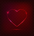 neon heart sign vector image