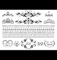 Original borders and details for design vector image vector image