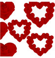 pattern of roses in the form of hearts vector image