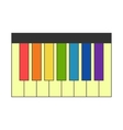 Piano with colorful keys vector image