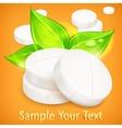 Pills natural on yellow vector image