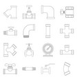 pipe and tube symbol vector image vector image