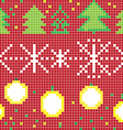 pixel christmas pattern vector image