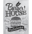 Poster Burger Hous coal vector image