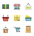 Purchase icons set flat style vector image vector image