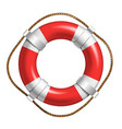 red and white lifebuoy for help life in sea vector image vector image