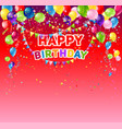 red birthday card vector image vector image