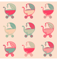 Seamless Baby Carriages vector image vector image