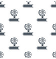 seamless globe pattern education symbol from icon vector image
