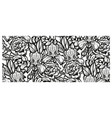 seamless pattern with flowers for white background vector image