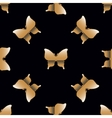 Seamless pattern with golden butterflies vector image vector image