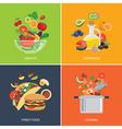 set flat design concept for food vector image vector image