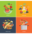 Set of flat design concept for food