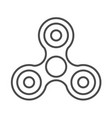 spinner fidget icon isolated on white background vector image vector image