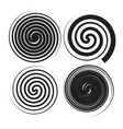 spiral speed and swirl set vector image